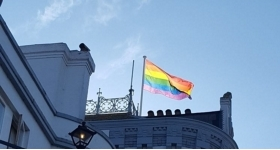 Pride Flag and flagpole supplied.South coast Flagpoles supplied the Royal Esplanade Hotel