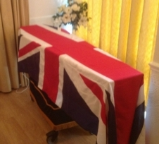 Coffin Drape Flags
