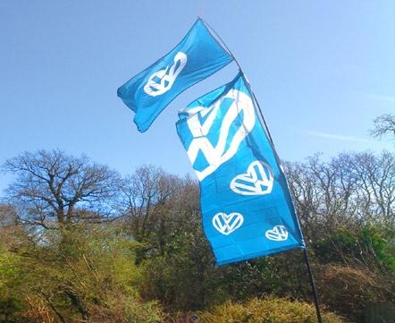 I love VW 6 Metre Bunting 20 Flags Volkswagen Beetle Camper Van Festival Banner