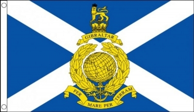 Royal Marines Reserve Scotland Military Flag