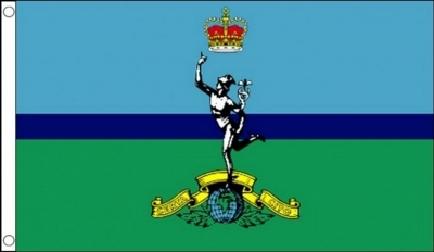 Royal Signals Corps Military Flag