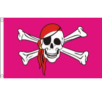 Pink Pirate Skull and Crossbones